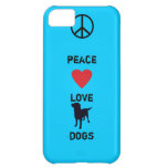 Peace Love Dogs iPhone 5C Cover