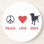 Peace Love Dogs Coaster