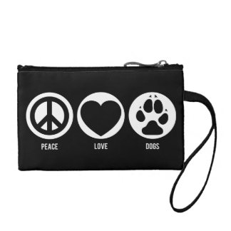 Peace Love Dogs Coin Wallet