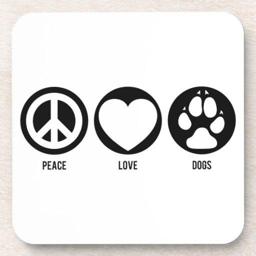 Peace Love Dogs Cork Coaster