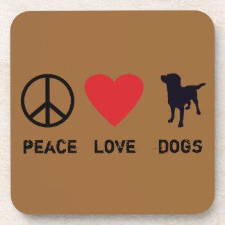 Peace Love Dogs Beverage Coaster