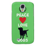 Peace Love Dogs Galaxy S4 Cover