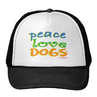 Peace Love Dogs Hat