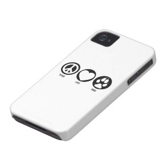 Peace Love Dogs iPhone 4 Cover