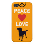 Peace Love Dogs iPhone 4/4S Cover