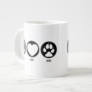 Peace Love Dogs Jumbo Mug 20 Oz Large Ceramic Coffee Mug