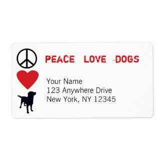 Peace Love Dogs Shipping Label