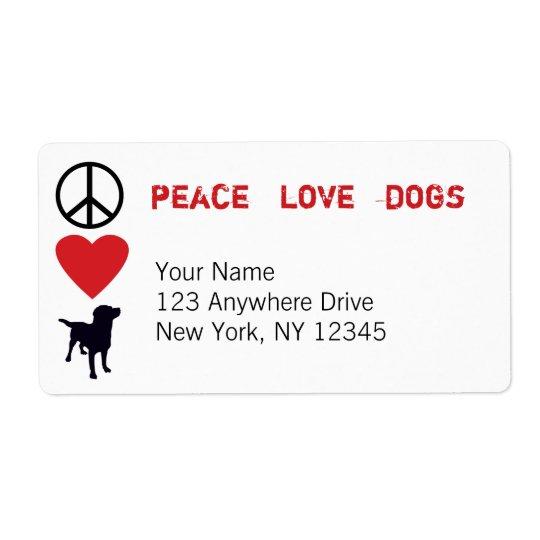 Peace Love Dogs Label
