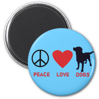 Peace Love Dogs Refrigerator Magnets
