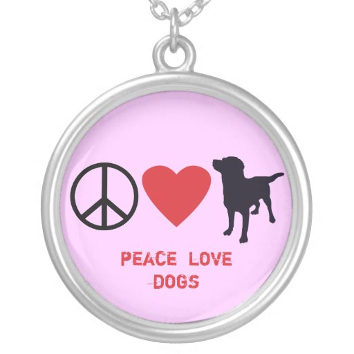 Peace Love Dogs Pendants