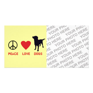 Peace Love Dogs Personalized Photo Card