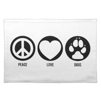 Peace Love Dogs Cloth Placemat
