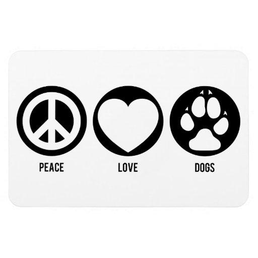 Peace Love Dogs Premium Flexi Magnet