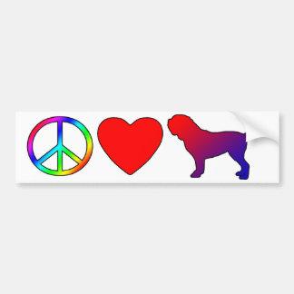 Peace Love Dogues de Bordeaux Bumper Sticker