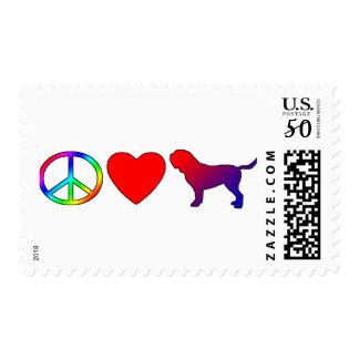 Peace Love Dogues de Bordeaux Postage