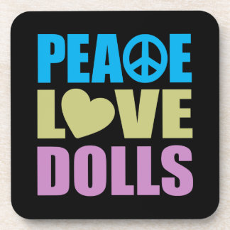 Peace Love Dolls Beverage Coaster