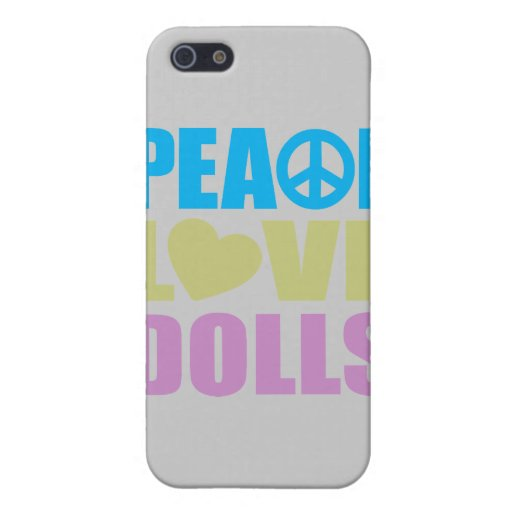 Peace Love Dolls Case For iPhone 5