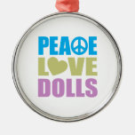 Peace Love Dolls Christmas Tree Ornaments