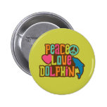 Peace Love Dolphin Buttons