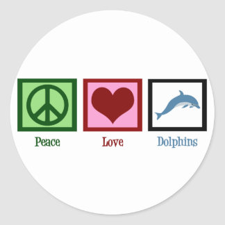 Peace Love Dolphins Sticker