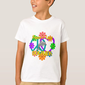 Peace Love Dolphins T-Shirt