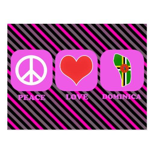 Peace Love Dominica Postcard