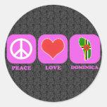Peace Love Dominica Stickers