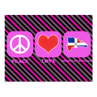 Peace Love Dominican Republic Postcard