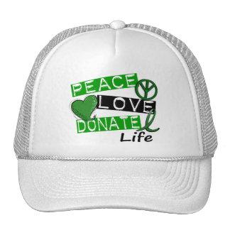 PEACE LOVE DONATE LIFE TRUCKER HAT