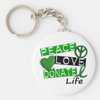 PEACE LOVE DONATE LIFE KEYCHAIN
