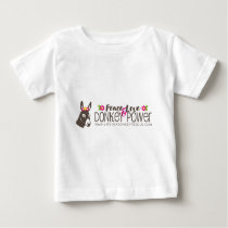 Peace Love Donkey Power Logo Baby T-Shirt