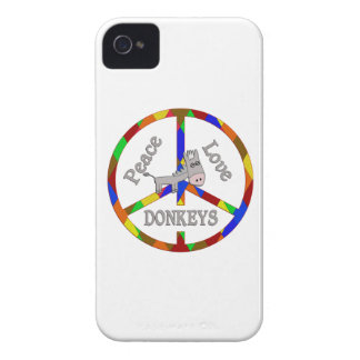 Peace Love Donkeys Case-Mate iPhone 4 Cases