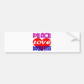 Peace Love Double Bass Bumper Stickers