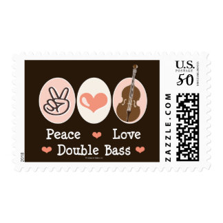 Peace Love Double Bass Stamps