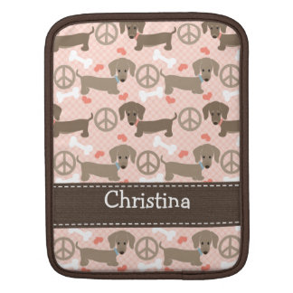 Peace Love Doxies Dachshund iPad 2 and 1 Sleeve