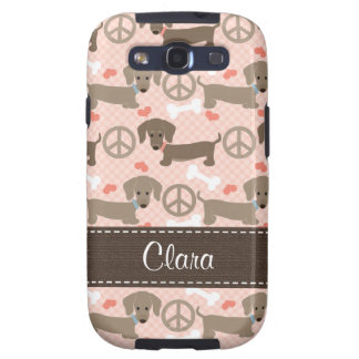 Peace Love Doxies Dachshund Samsung Galaxy SIII Cover