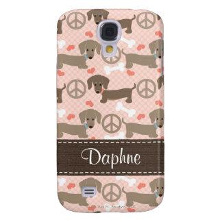 Peace Love Doxies Dachshund  Samsung S4 Case