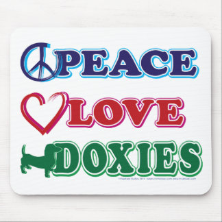 Peace-Love-Doxies- Dachsund Mouse Pad