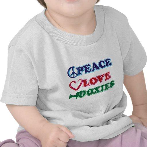 Peace-Love-Doxies- Dachsund Tshirts