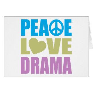 Peace Love Drama Card