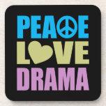 Peace Love Drama Coasters