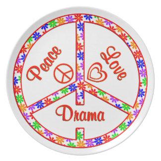 Peace Love Drama Plate