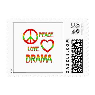 Peace Love Drama Postage