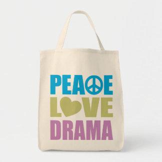 Peace Love Drama Tote Bag