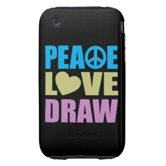 Peace Love Draw Tough iPhone 3 Cover