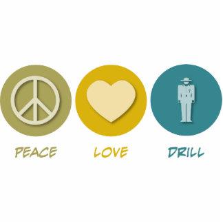 Peace Love Drill Photo Sculpture Ornament