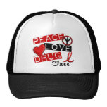 Peace Love Drug Free Mesh Hat