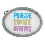 Peace Love Drums Belt Buckles