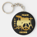 PEACE LOVE DRUMS KEYCHAIN