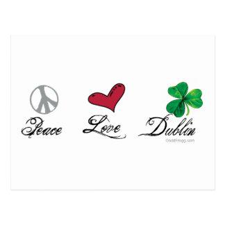 Peace Love Dublin Postcards